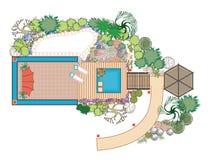 Landschaftsgestaltung des Projektes vektor abbildung