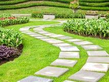Landschaftsgestaltung im Garten Stockfoto