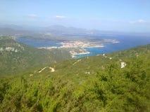 Landschaftsgolf aranci - Sardegna lizenzfreies stockbild