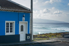 Landschaftshaus auf Azoren, Portugal Stockfoto