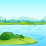 Landschaftshintergrund Stockbild
