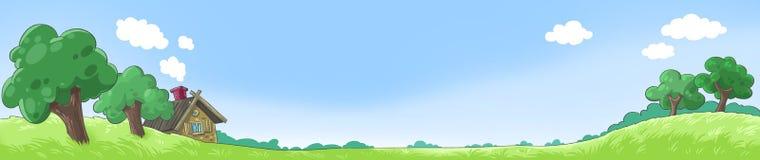 Landschaftsillustration Stockbilder