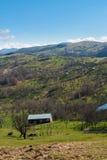 Landschaftslandschaft im Sonnenaufgang Lizenzfreies Stockbild