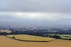 Landschaftslandschaft - Wiltshire - Großbritannien - Ansicht von Cley-Hügel Lizenzfreie Stockfotografie