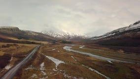 Landschaftsluftgesamtlänge in Island stock footage