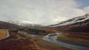 Landschaftsluftgesamtl?nge in Island stock video footage