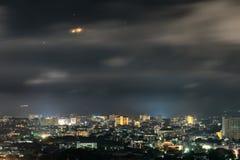 Landschaftsnächtlicher himmel Stockfotografie