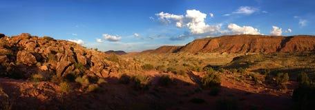 Landschaftspanoramische Ansicht UTAH - USA stockfotos