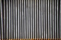 Landschaftspark Duisburg, Germany: Close up of isolated grey weathered iron pipes in a row royalty free stock photos