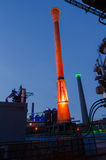 Landschaftspark Nord at night in Duisburg, Germany Royalty Free Stock Photo