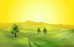 Landschaftsschablone lizenzfreie abbildung