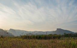 Landschaftssonnenuntergang Stockfotografie