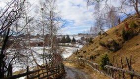 Landschaftsstraße in den Bergen Stockbild