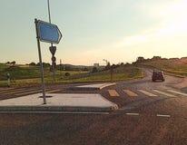 Landschaftsstraße (hergestellt mit ToonCamera/CodeOrgana) Stockbild