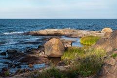 Landschaftsszene schwedisches Archipel-Ostsee stockfotografie