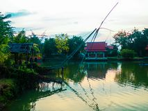 Landschaftsumwelt-Wasserbrücke lizenzfreie stockfotografie