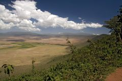 Landschap 011 van Afrika ngorongoro stock foto's