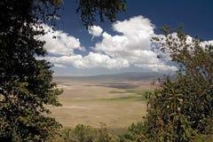 Landschap 012 van Afrika ngorongoro stock foto