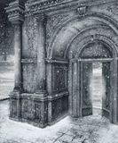 Landschap 10 van de winter royalty-vrije illustratie