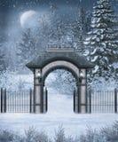 Landschap 11 van de winter stock illustratie
