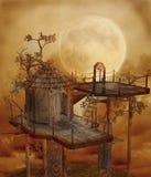 Landschap 110 van de fantasie royalty-vrije illustratie