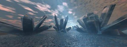 Landschap 2 van het kristal Stock Afbeeldingen