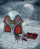 Landschap 24 van de winter royalty-vrije illustratie