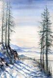 Landschap royalty-vrije illustratie