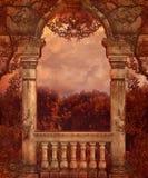 Landschap 79 van de fantasie vector illustratie