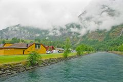 Landschap aan Flam Royalty-vrije Stock Fotografie