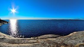 Landschap aan Oostzee Stock Afbeeldingen