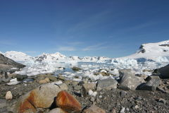 Landschap in Antarctica Stock Afbeelding