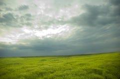 Landschap. bewolkte hemel Stock Afbeelding