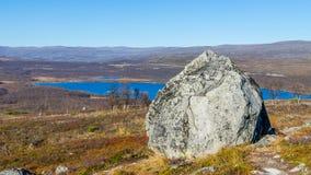 Landschap bij bergen Stock Afbeelding
