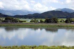 Landschap bij de grens van Hongkong China Royalty-vrije Stock Afbeelding