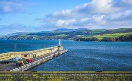 Landschap bij de kust van het Eiland Man royalty-vrije stock foto's