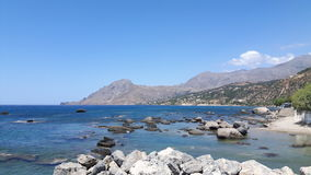 Landschap bij de oceaan Stock Foto's