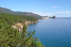 Landschap bij het meer van Baikal in Siberië. Royalty-vrije Stock Foto
