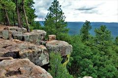 Landschap bij het Meer van de Houtcanion, Coconino-Provincie, Arizona, Verenigde Staten Stock Foto