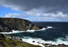 Landschap bij Kaap St Francis, NL Canada stock afbeeldingen