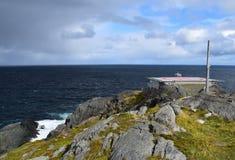 Landschap bij Kaap St Francis, NL Canada stock fotografie