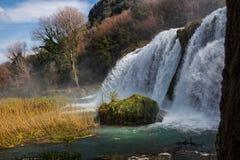 Landschap bij marmore` s waterval Stock Afbeelding