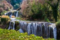 Landschap bij marmore` s waterval Stock Foto's