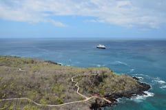 Landschap bij San Cristobal Island - de Galapagos Stock Foto