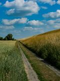 Landschap bij Tczews-embarkment wordt genomen die stock afbeelding