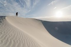 Landschap bij Wit Zand Nationaal Monument in Alamogordo, New Mexico Stock Fotografie