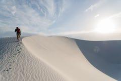 Landschap bij Wit Zand Nationaal Monument in Alamogordo, New Mexico Stock Afbeeldingen