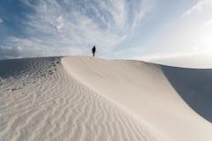 Landschap bij Wit Zand Nationaal Monument in Alamogordo, New Mexico Stock Foto's