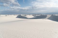Landschap bij Wit Zand Nationaal Monument in Alamogordo, New Mexico Stock Foto