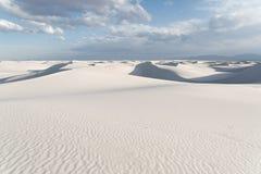 Landschap bij Wit Zand Nationaal Monument in Alamogordo, New Mexico Royalty-vrije Stock Foto's
